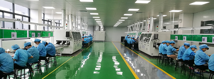 Visit components insertion production line