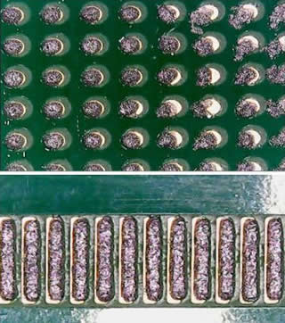 Solder paste were shifted on BGA and lacked on IC