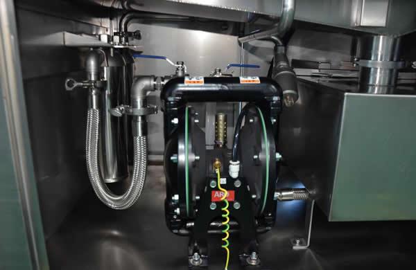 USA made Ingersoll RandIp neumatic diaphragm pump.