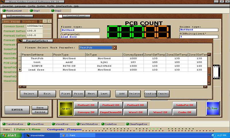 Parameter saving