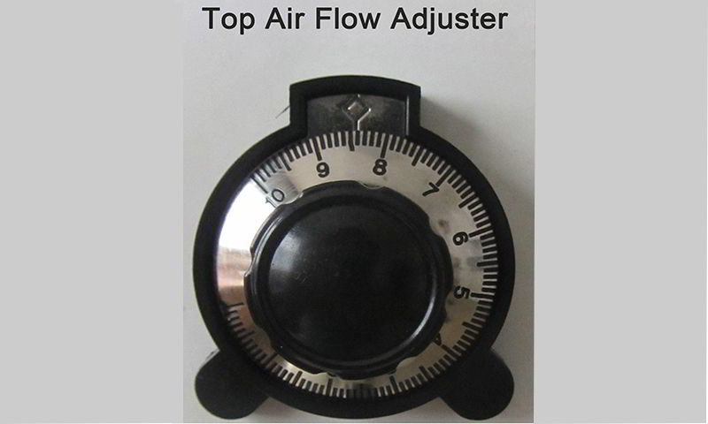 Upper temperature zones' air flow adjuster can control flow accurately.JPG