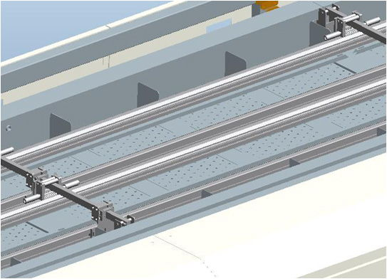 rails is using special aluminum alloy and doing hardness and oxidation treatment for anti-distortion and anti-wear