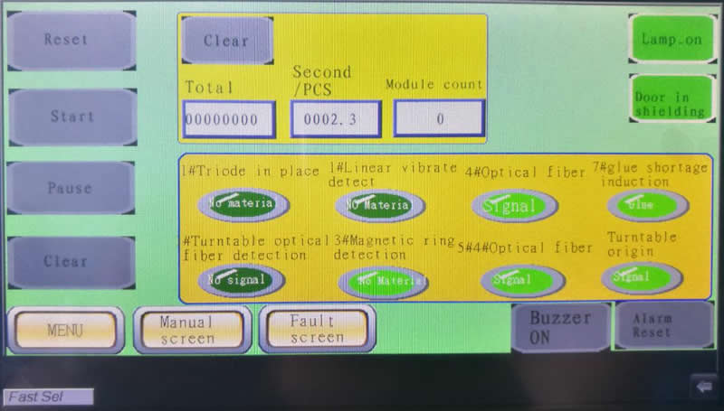 Full English interface , easy to operate .realize full automatic  production just  by press start up button.
