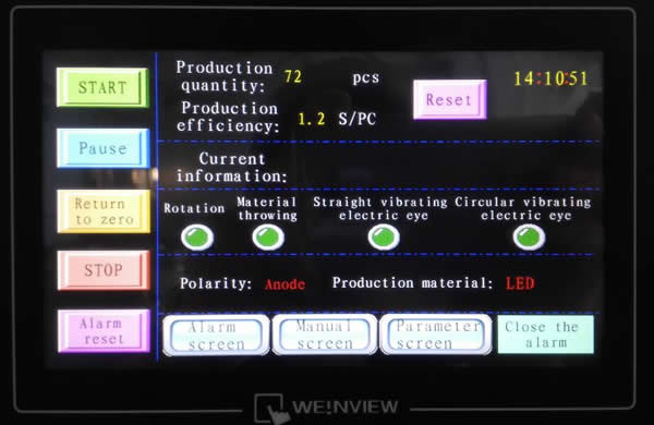 PLC with touch screen control, all English interface, easy to operate.