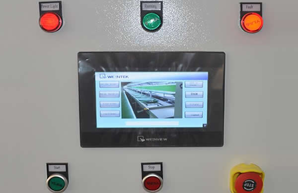 Touchscreen control and English interface
