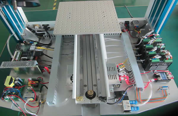 Motion system: 5 axis with X,Y,Z,R,and soldering wire feeding motion system are all controlled by one combined 5 axis motion control card with PC,