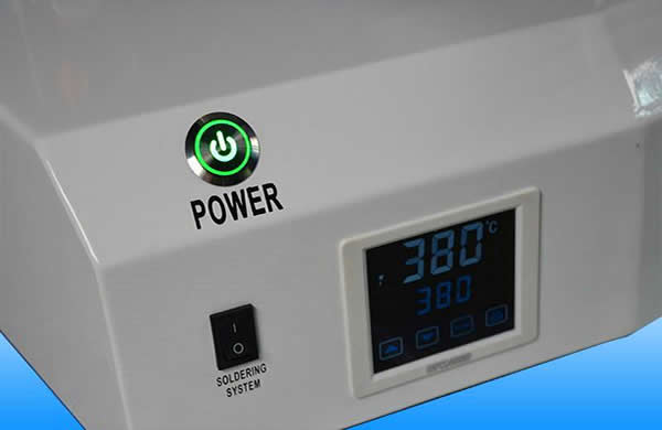 Heating system: High frequency induction heating system with 400W power (600W is optional),it has rapid temperature recovery time.