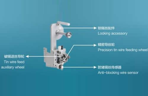 Optional Broke tin solder wire feeder(for the tin diameter of 0.6-1.0mm ):