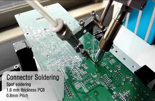 Fine pitch soldering point.