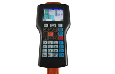 Hand-held teach pendant with powerful software  is easy for programming.