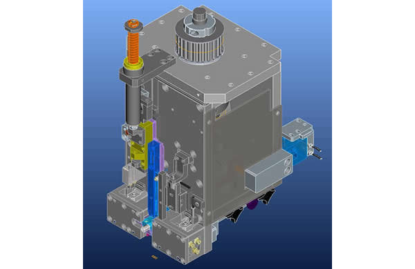 Cam structure inserting head driven by Panasonic servo motor ,stable and fast,equipped with terminal lack detecting function .