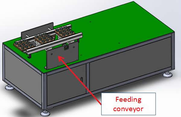 1. The feeding conveyor, soldering part and discharging conveyor are independent belt lines, running from left to right, and the widening range is 50-350mm.