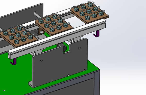 The discharge conveyor station is manually unloaded (also can be connected to the automatic SMT line  by SMEMA)