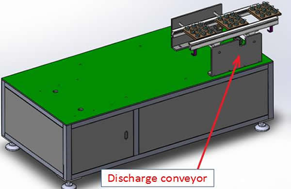 3. Discharge conveyor , running from left to right, and the widening range is 50-350mm.The discharge conveyor length is 700mm.