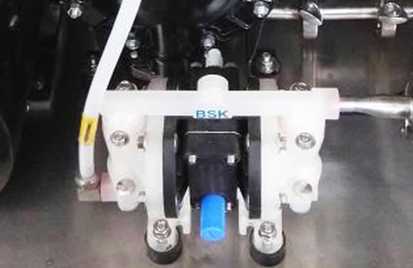 Independent chemical liquid adding pump.