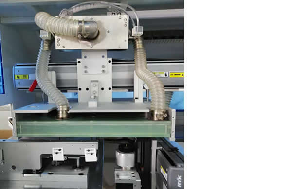 Top PCB clamper with customized vacuum fixture ,bottom cutting system.