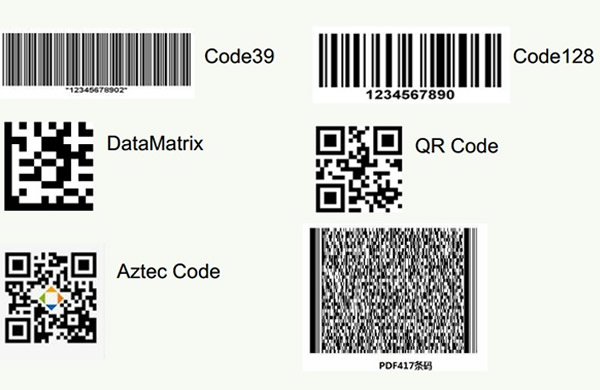 Frequently used bar code format