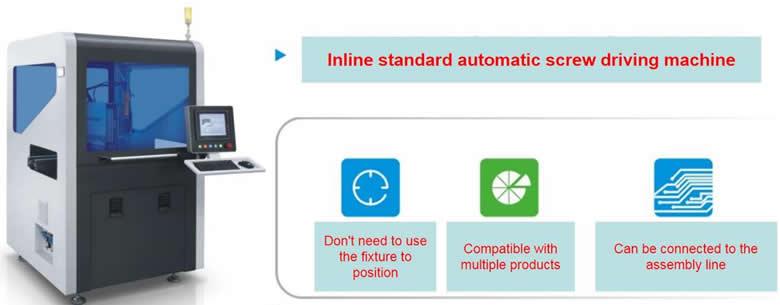 Inline screw driving machine
